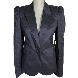 BIRD BY JUICY COUTURE Pinstriped Puffed Blazer S